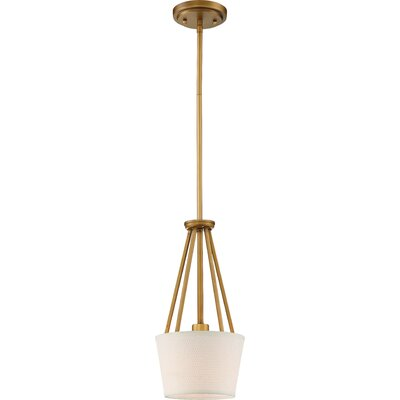 Bellvue 1-Light Mini Pendant Finish: Natural Brass