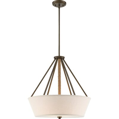 Bellvue 4-Light Drum Pendant Finish: Mahogany Bronze
