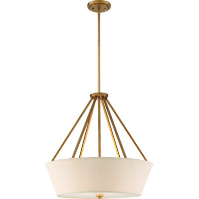 Bellvue 4-Light Drum Pendant Finish: Natural Brass