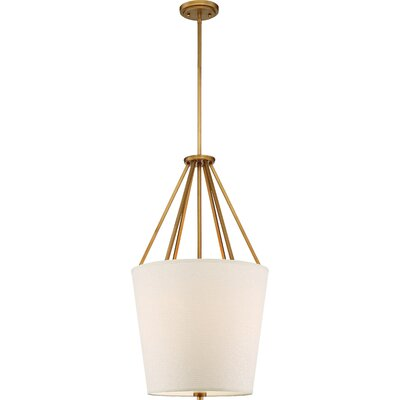Bellvue 3-Light Foyer Pendant Finish: Natural Brass, Size: 30.38 H x 17 W x 17 D