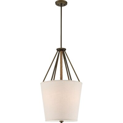 Bellvue 3-Light Foyer Pendant Size: 30.38 H x 17 W x 17 D, Finish: Mahogany Bronze