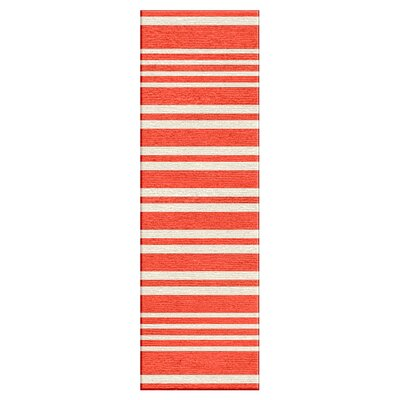 Rosebank Red/Orange Stripe Area Rug