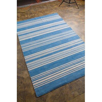 Rosebank Bermuda Blue Area Rug Rug Size: 5 x 8