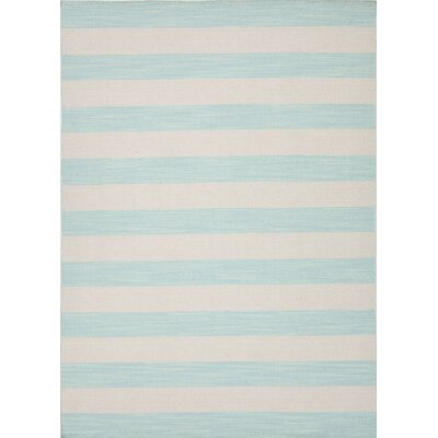 Breakwater Bay Lakeshore Hand-Woven Blue/Beige Area Rug