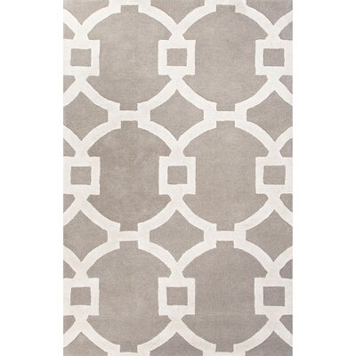 Bering Light Gray & Ivory Geometric Area Rug Rug Size: 2 x 3