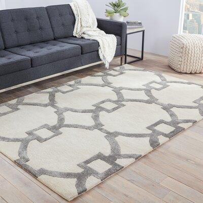 Bering Sand & Gray Geometric Area Rug Rug Size: 96 x 136