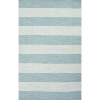 Rosebank Blue Stripe Area Rug Rug Size: 5 x 8