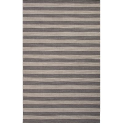 Rosebank Gray/Green Stripe Area Rug Rug Size: 5 x 8