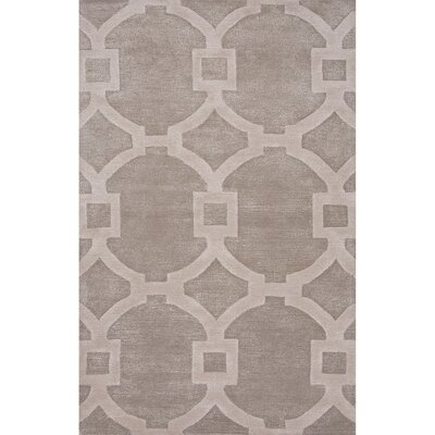Bering Wool and Art Silk Hand Tufted Gray/Ivory Area Rug Rug Size: 3'6