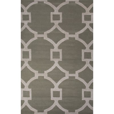 Bering Wool and Art Silk Hand Tufted Neutral Area Rug Rug Size: 36 x 56
