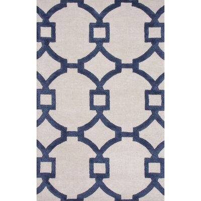 Bering Light Gray & Navy Blue Area Rug Rug Size: 2 x 3