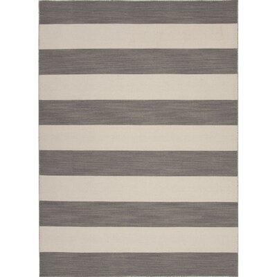 Rosebank Hand-Woven Wool Gray/Ivory Area Rug
