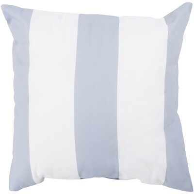 Orchid Awning Outdoor Throw Pillow Color: Sky Blue/Ivory, Size: 26 H x 26 W x 4 D