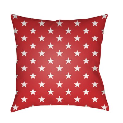 Seagate Indoor/Outdoor Throw Pillow Color: Red, Size: 18 H x 18 W x 4 x D