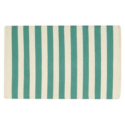 Ellsberg Doormat Color: Aqua, Mat Size: Rectangle 2 x 3
