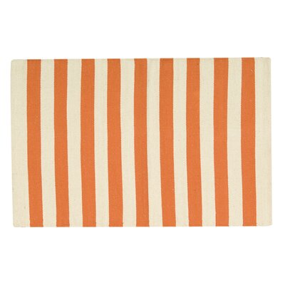 Ellsberg Doormat Color: Orange, Rug Size: 2 x 3