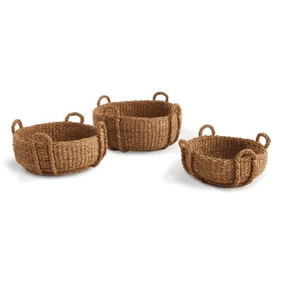 Woven 3 Piece Low Basket Set