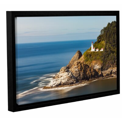 'Oregon Lighthouse' by Cody York Framed Photographic Print on Wrapped Canvas