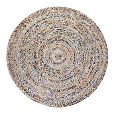 Orrs Island Hand-Woven Area Rug Rug Size: Round 6