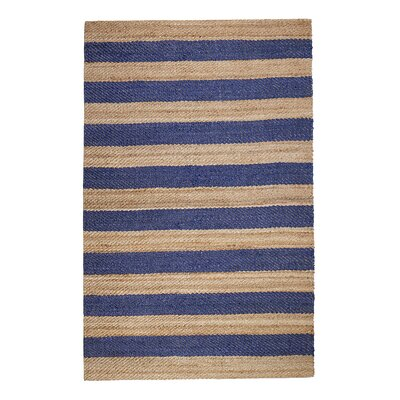 Breakwater Bay Granogue Hand-Woven Blue Area Rug