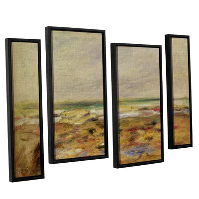 'The Beach At Martigues 1888' by Pierre Renoir 4 Piece Framed Painting Print on Wrapped Canvas Set