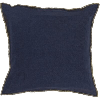 Oakleaf 100% Linen Throw Pillow Cover Size: 22 H x 22 W x 0.25 D, Color: BlueYellow