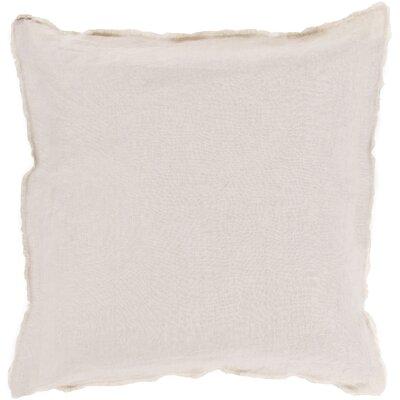 Oakleaf 100% Linen Throw Pillow Cover Size: 22 H x 22 W x 0.25 D, Color: Neutral