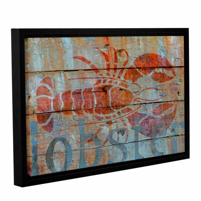 Lobster on Wood Framed Graphic Art on Wrapped Canvas