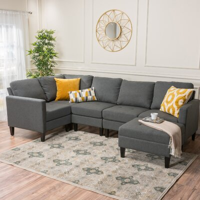 Longwood Modular Sectional Upholstery : Light Gray