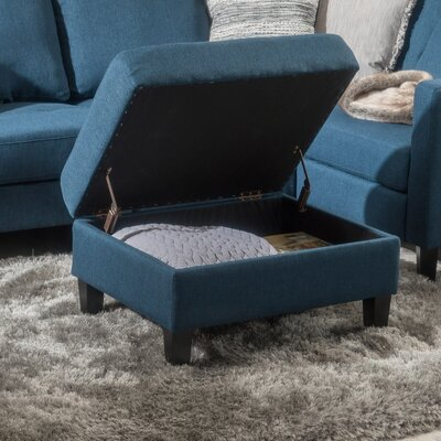 Burgess Storage Ottoman Upholstery : Dark Blue