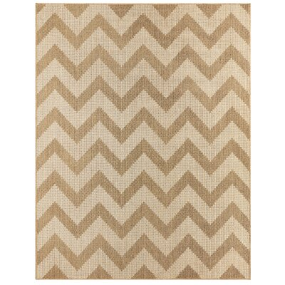 Eisenhower Chevron Natural Indoor/Outdoor Area Rug Rug Size: Rectangle 106 x 14