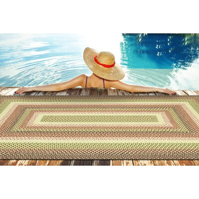 Partridge Green Indoor/Outdoor Area Rug Rug Size: Rectangle 9 x 12