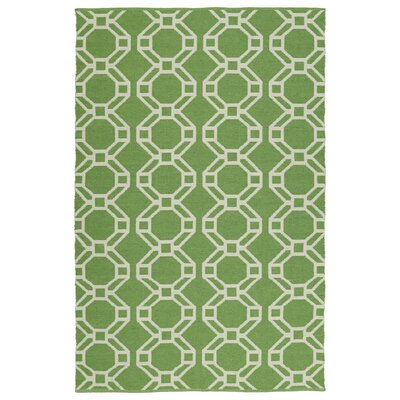 Fowler Lime Green & Cream Indoor/Outdoor Area Rug Rug Size: Rectangle 5 x 76