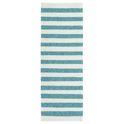 Breakwater Bay Suffield Hand-Tufted Blue Indoor/Outdoor Area Rug