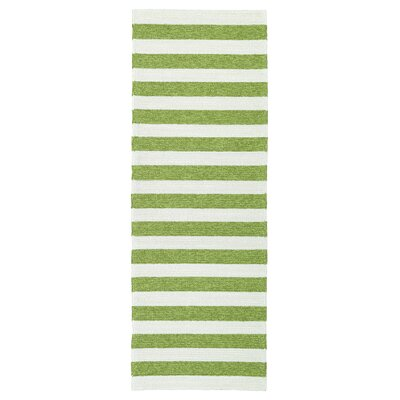 Suffield Green & Cream Indoor/Outdoor Area Rug Rug Size: Rectangle 4 x 6