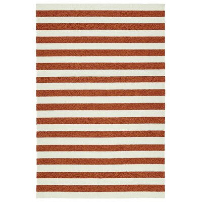 Suffield Paprika Indoor/Outdoor Area Rug Rug Size: Rectangle 5 x 76