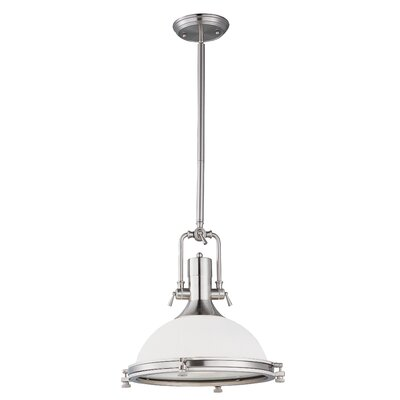 Rushmore 1-Light Pendant Finish: Satin Nickel