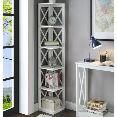 Washington 5 Tier Corner 64 Corner Unit Bookcase Finish: White