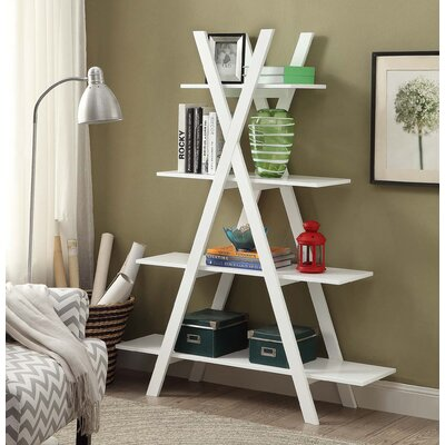 Washington 59 Accent Shelves Bookcase Finish: White