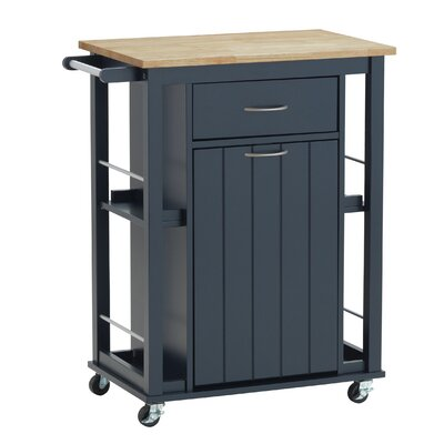 Hillmont Kitchen Cart Base Finish: Navy Blue