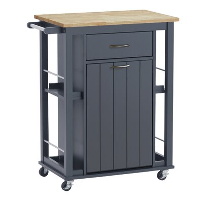 Hillmont Kitchen Cart Base Finish: Dark Gray