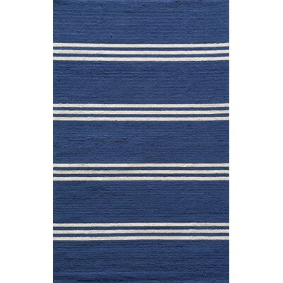 Dreadnought Hand-Hooked Blue Indoor/Outdoor Area Rug Rug Size: 8 x 10