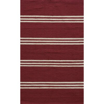 Dreadnought Hand-Hooked Red Indoor/Outdoor Area Rug Rug Size: 2 x 3