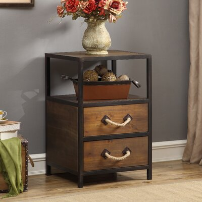 Begonia 2 Drawer End Table
