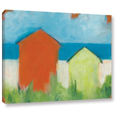 'Summer Sun' by Jan Weiss Painting Print on Wrapped Canvas Size: 14