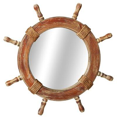 Ship Wheel Wall Mirror