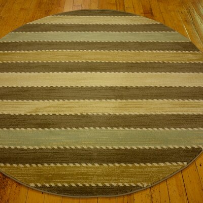 Foxfield Brown Area Rug Rug Size: Round 8'