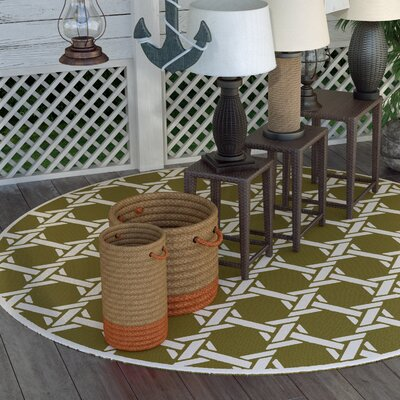 Sweetwood Olive Indoor/Outdoor Area Rug Rug Size: 5 x 8