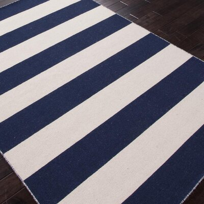 Breakwater Bay Sandcliff Blue/White Area Rug