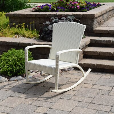 Truesdell Woven Adirondack Rocking Chair Finish: Antique White